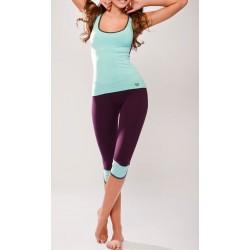 Conjunto Feminino Capri e Blusa Moda Fitness