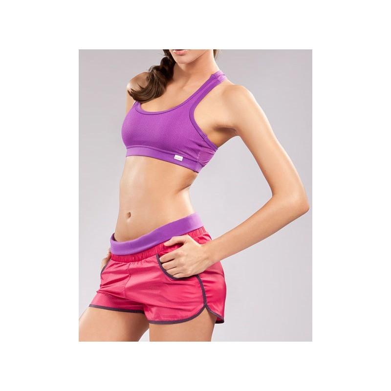 Bermuda Shorts Feminino Moda Fitness Roxa Rosa