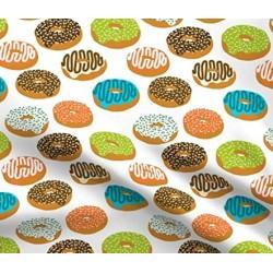 Tecido donuts branco...