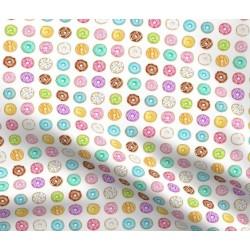 Tecido donuts branco mini...