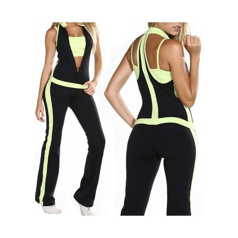 Macacão com Top Moda Fitness Exercícios