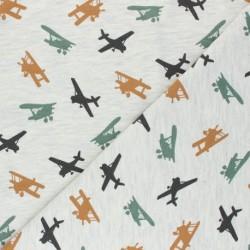 Tecido estampado aviões...