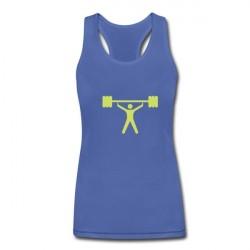 Blusa Regata Feminina Azul Academia Musculação