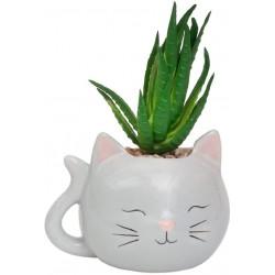 Vaso gatinho cerâmica...
