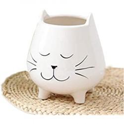 Vaso gatinho branco...