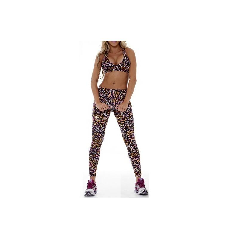 Conjunto Top e Calça Moda Fitness Academia