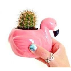 Vaso cachepot flamingo para...