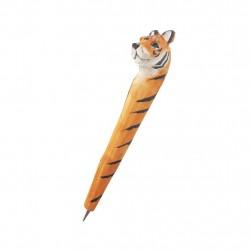 Caneta esculpida madeira tigre