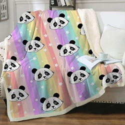 Manta casal sherpa panda...