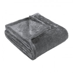 Cobertor casal soft cinza...
