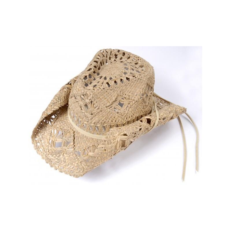 Chapéu Feminino Palha Country Vazado