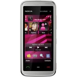 "Celular Nokia 5530 Branco/Rosa - Câmera 3.2MP Wi-Fi TouchScreen 2.9"""