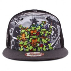 Boné New Era 9FIFTY Snapback Teenage Tartarugas Ningas Mutantes Preto/Cinza/Estampado