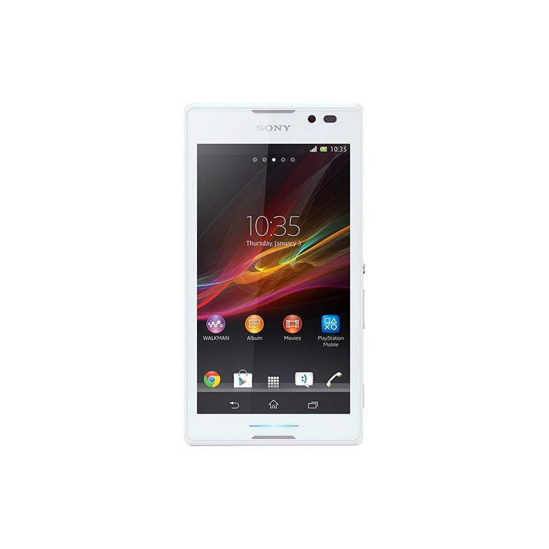 Smartphone Sony Xperia C Branco Android 4.2 3G Wi-Fi 8MP Memória de 4GB GPS