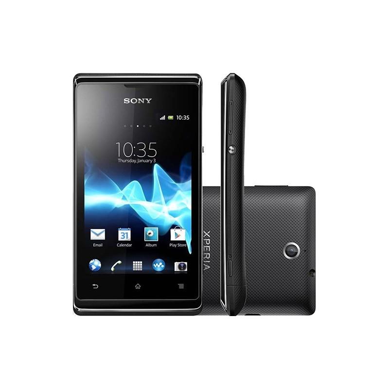 Smartphone Dual Chip Sony Xperia E Dual Claro Preto Android 4.0 3G/Wi-Fi Câmera 3.2MP