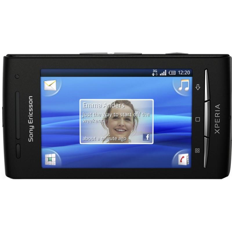 Celular Sony Ericsson Xperia X8 Preto Android 2.1 Câmera 3.2MP Wi-Fi 3G FM Bluetooth Touchscreen Cartão de 2GB
