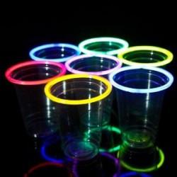 Varinhas Pulseiras Palitos de Luz Neon Fluorescentes Festas 100un