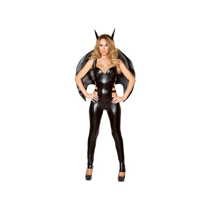 Fantasia Feminina Festa Halloween Bat Girl Asas Menina Morcego Sexy