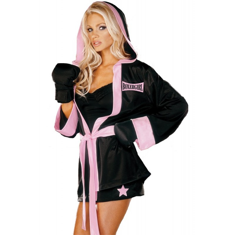 Fantasia Feminina Festa Halloween Boxeadora Sexy