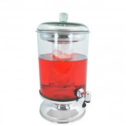 Suqueira de Vidro Tranparente com Porta Gelo e Dispenser 5,5L