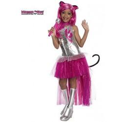 Fantasia Intantil Meninas Monster High Luxo Catty Noir