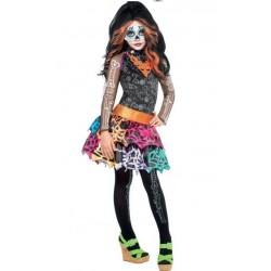 Fantasia Infantil Meninas Monster High Luxo Skelita Calaveras