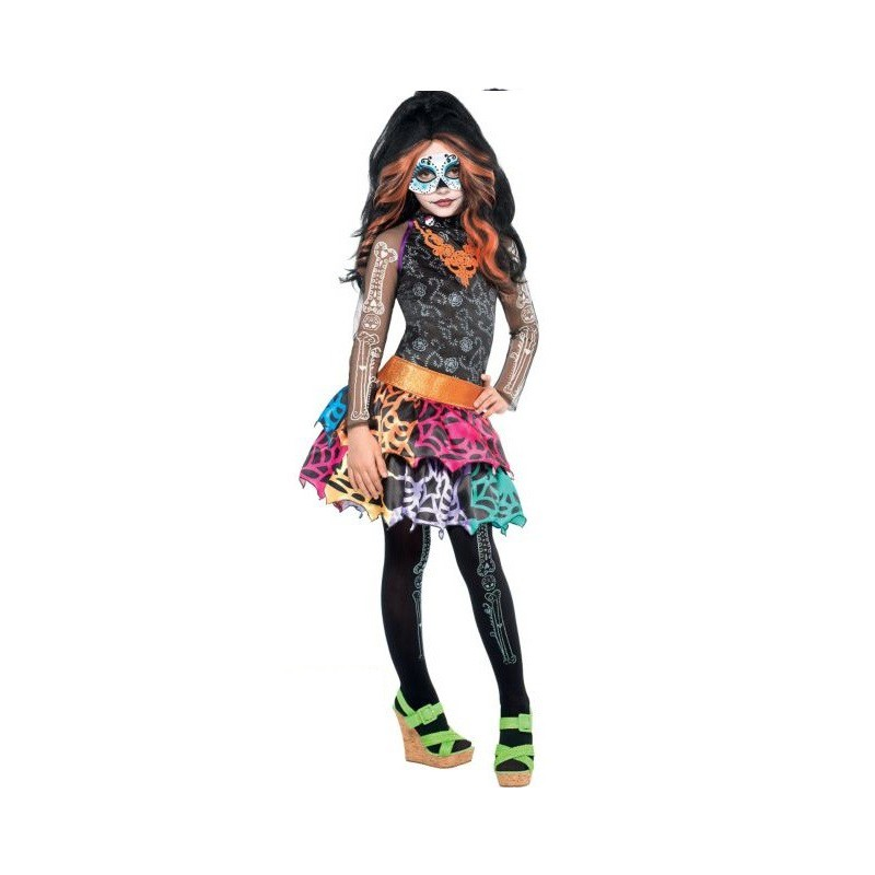 Fantasia Intantil Meninas Monster High Luxo Skelita Calaveras