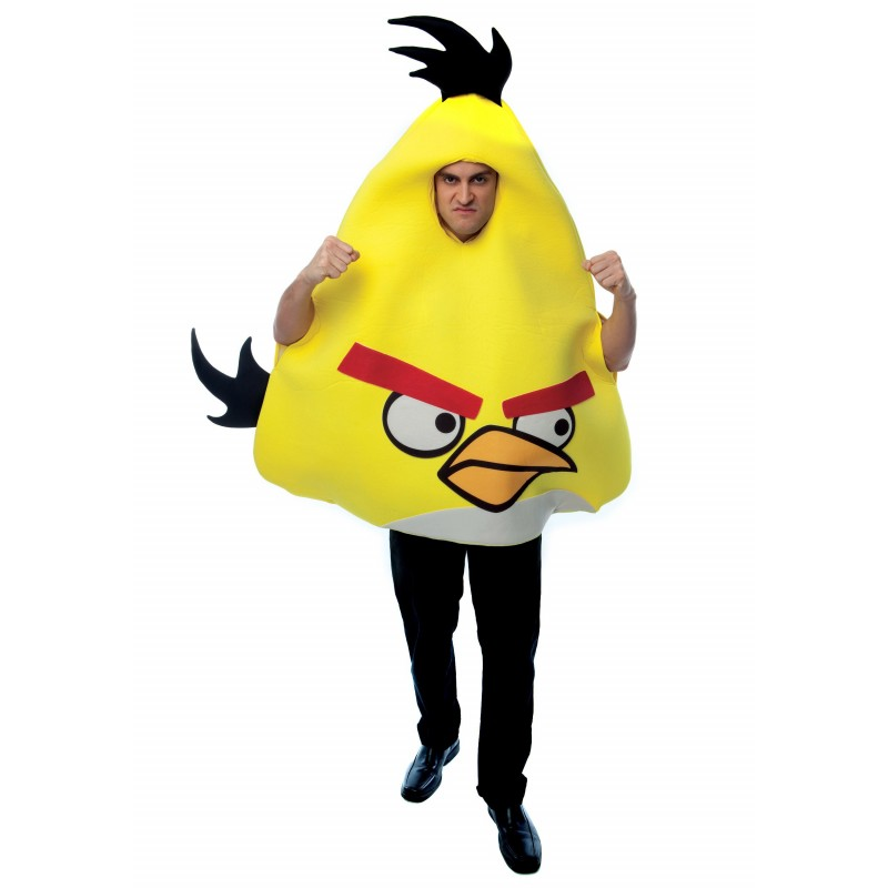 Fantasia Adulto Angry Bird Amarelo Festa Halloween