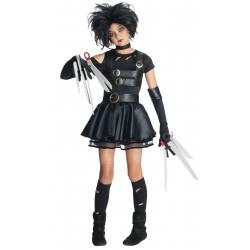 Fantasia Infantil Edward Mãos de Tesoura Meninas Festa Halloween