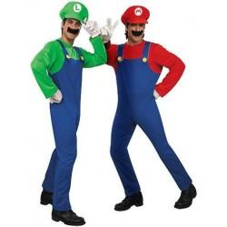 Fantasia Masculina Mario e Luigi Festa Halloween