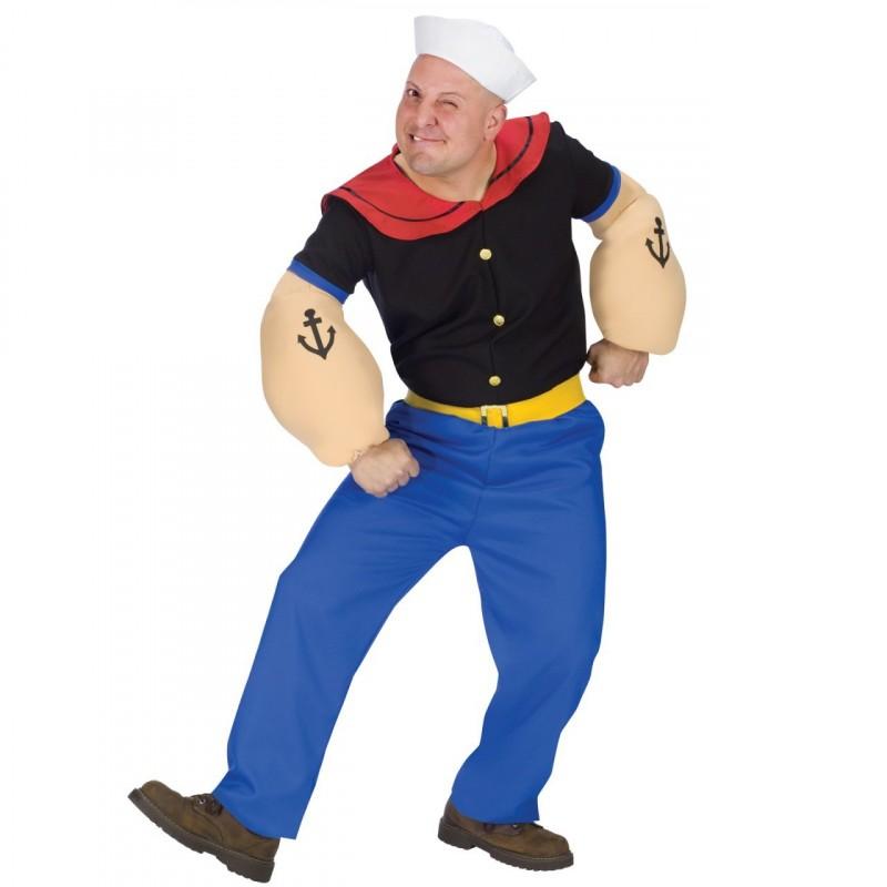 Fantasia Masculina Popeye Festa Halloween Adulto