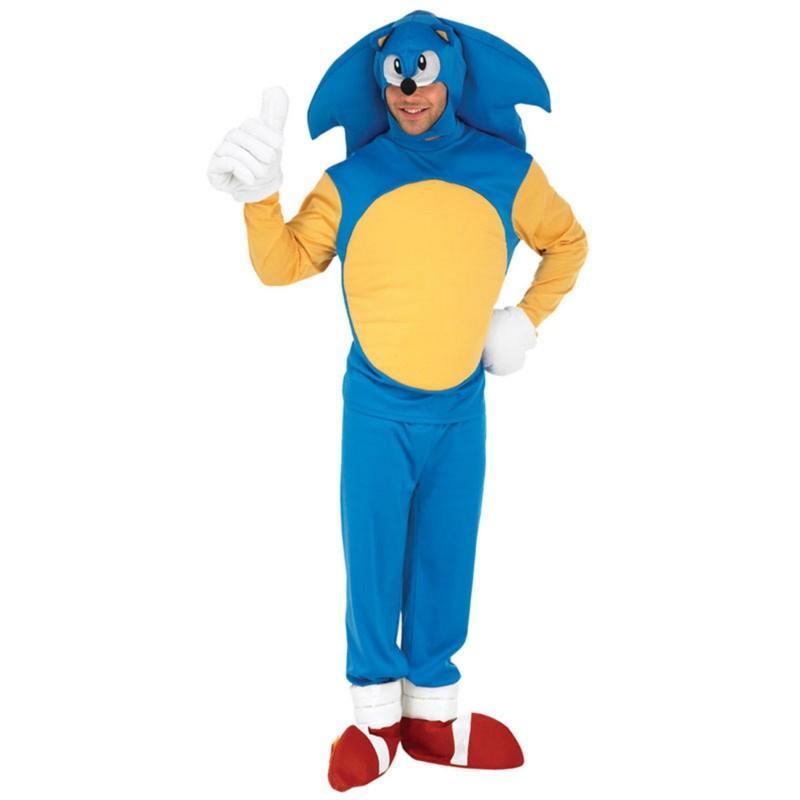 Fantasia Masculina Sonic Festa Halloween Adulto