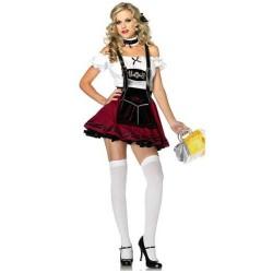 Fantasia Feminina Alemã Oktoberfast com Chopp Festa Halloween