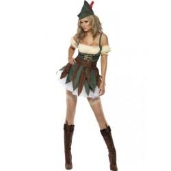 Fantasia Feminina Hobin Hood Adulto Festa Halloween