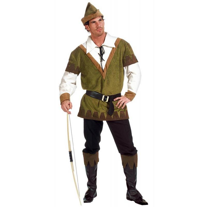 Fantasia Masculina Hobin Hood Adulto Festa Halloween