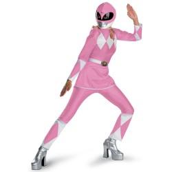 Fantasia Feminina Power Ranger Rosa Festa Halloween