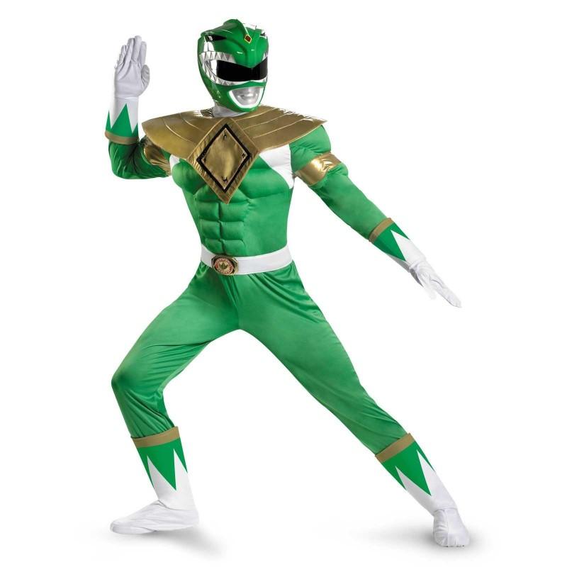 Fantasia Masculina Power Ranger Verde Festa Halloween
