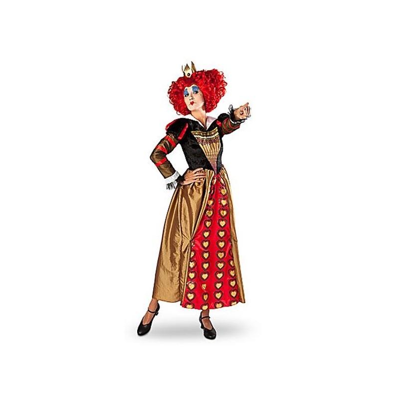 Fantasia Feminina Rainha Vermelha de Alice no país das Maravilhas Festa Halloween